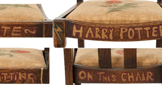 Harry Potter author's chair heading to auction