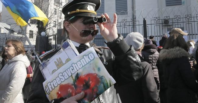 Ukrainian protesters demand that Russia release Savchenko