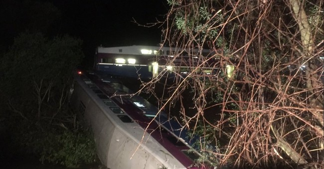 Fallen tree derails train in California; at least 9 injured