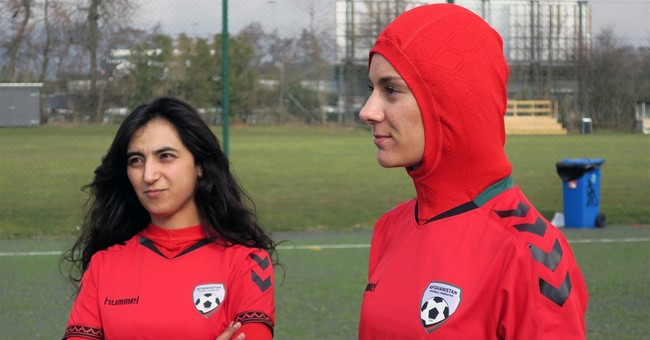Afghani women's team gets jersey with integrated hijab