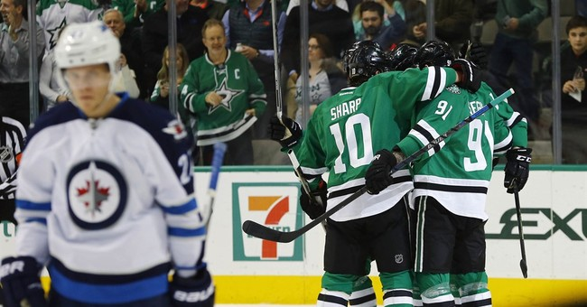 Stars beat Jets 2-1 in shootout to end 3-game losing streak