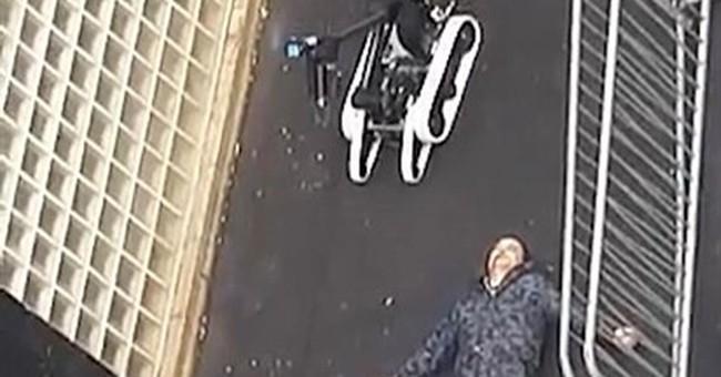 Man in fake explosives vest killed amid high Paris tension