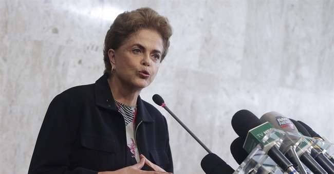 Brazil's embattled president says she will not resign