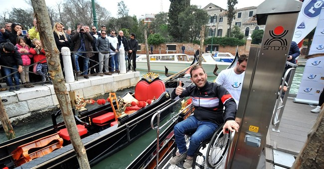 Venice's gondolas become accessible to wheelchair users