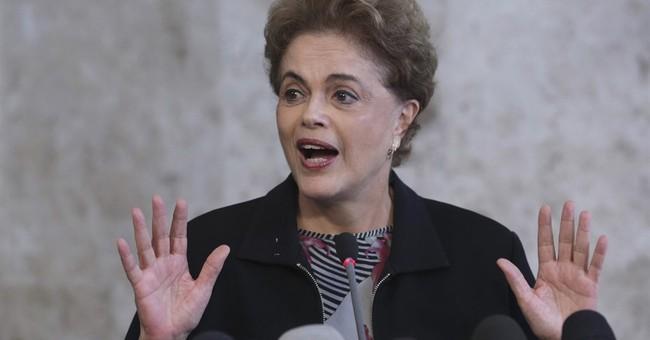 Brazil's embattled president says she will not resign