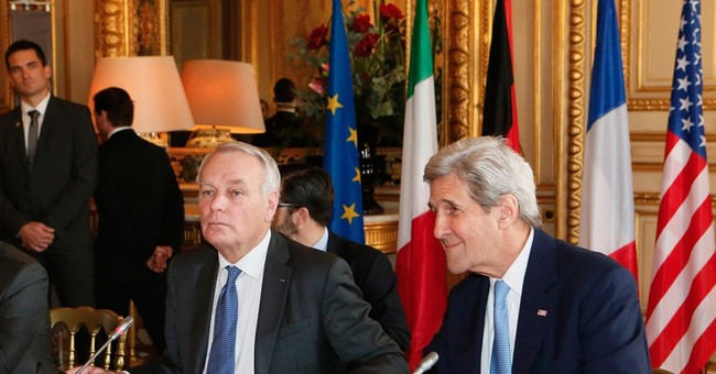 US envoy John Kerry meets Europe's top diplomats in Paris