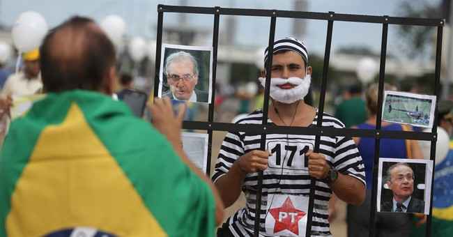 Big turnout for protests urging ouster of Brazil's president