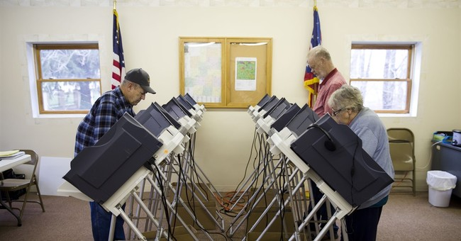 AP PHOTOS: Voters head to polls in delegate-rich primaries