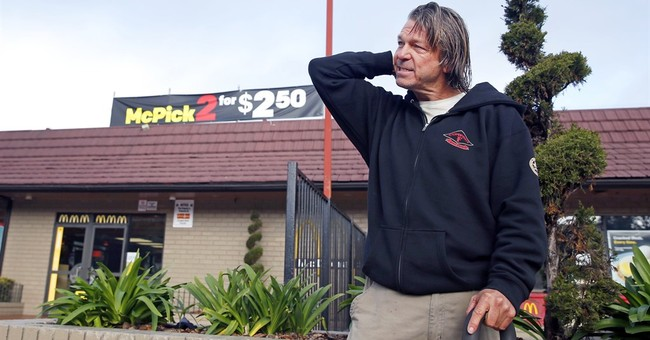 Homeless man who spotted California fugitives gets $100K