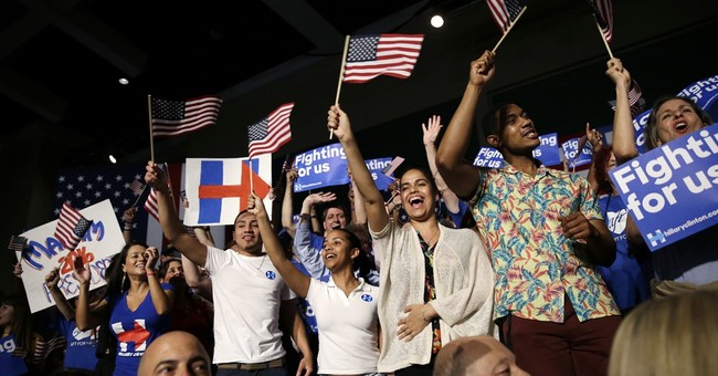 The Latest: Trump, Clinton delegate leads growing