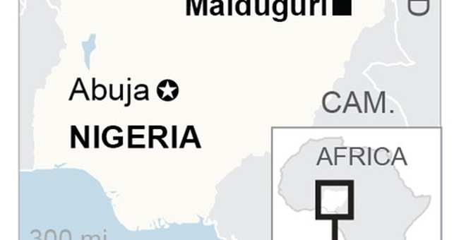 Rescuers: Female suicide bombers kill 24 at Nigerian mosque