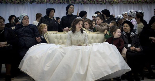 AP PHOTOS: A traditional ultra-Orthodox Jewish wedding