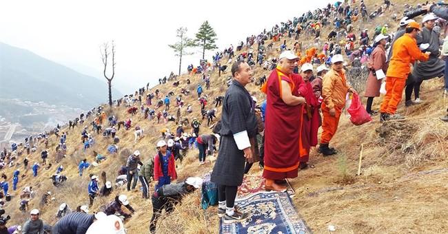 Bhutan celebrates royal baby by planting 108,000 trees