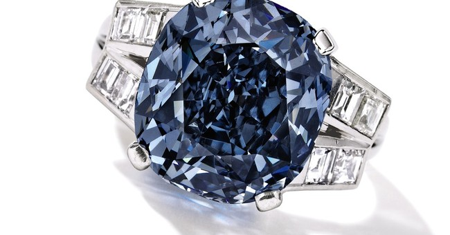 Blue diamond worn for years by Shirley Temple up for auction