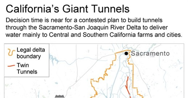 Things to know about California's giant twin tunnels project
