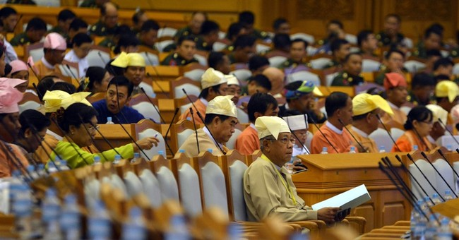 Image of Asia: Myanmar's soon-to-be-president in Parliament