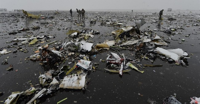 Heavy winds as FlyDubai plane crashes in Russia, killing 62
