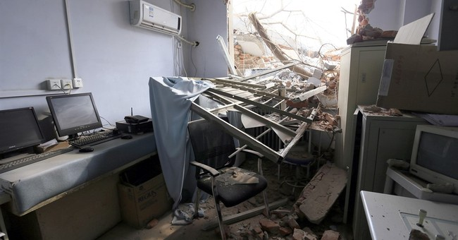 China hospital bulldozed with patients inside, morgue buried
