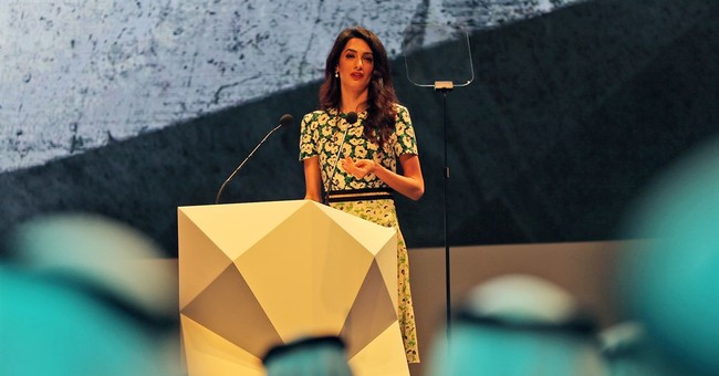 Lawyer Amal Clooney talks human rights in Mideast speech