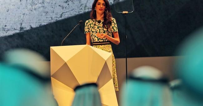 Lawyer Amal Clooney talks human rights in Mideast speech
