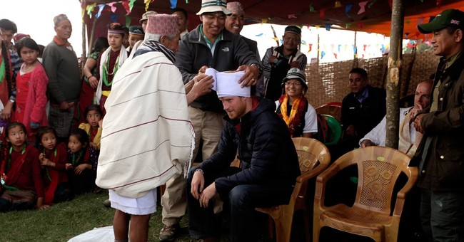 Prince Harry spends night in a Nepali village home