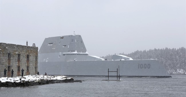 Navy's largest destroyer heads out to sea for trials