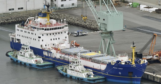 2 British ships arrive in Japan to carry plutonium to US