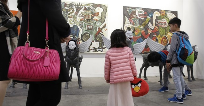 Metal cubes, N. Korea handcraft highlight Hong Kong art show