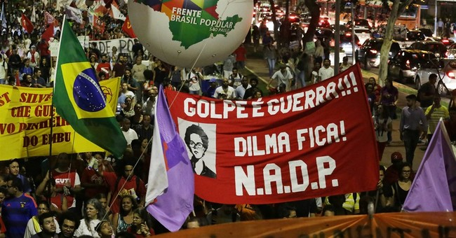 Thousands march to show support for Brazil's president