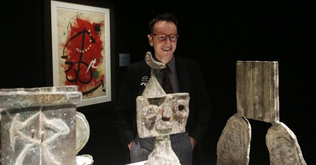 Joan Miro exhibit opens in Milan showing technique, material