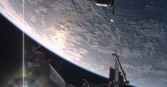 Easter delivery: Cargo ship arrives at space station