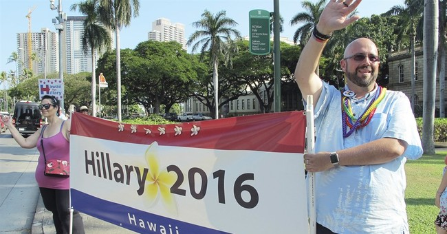 The Latest: Sanders wins Hawaii; Clinton leads in delegates