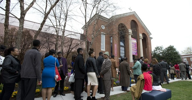 Obama and family attend Easter service at historic VA church