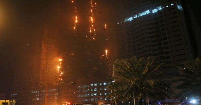 Fire breaks out at United Arab Emirates skyscraper