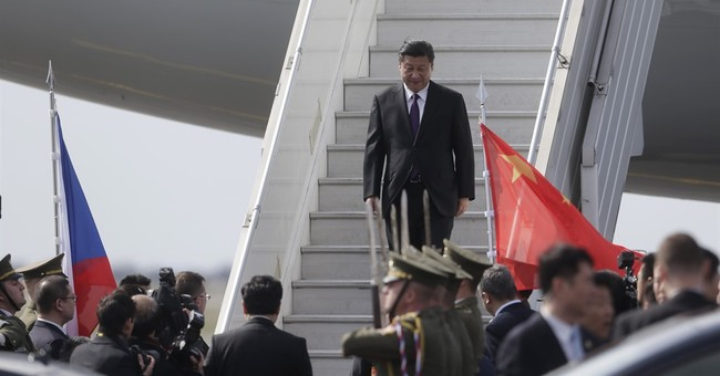 China's Xi arrives in Prague en route to the US