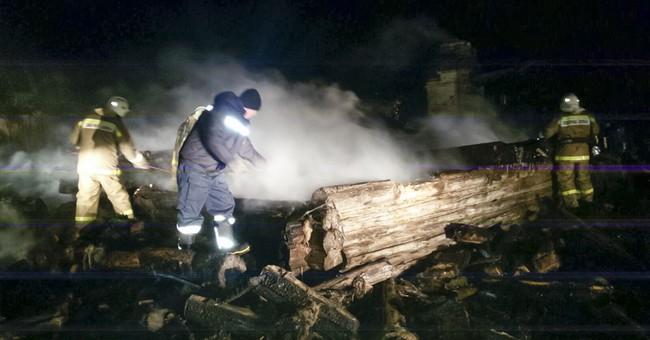 5 children, woman dead in Russian fire