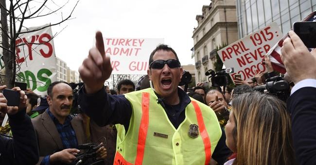 Turkish security manhandles journalists at Washington event