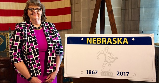 Nebraska halts production of widely mocked license plate