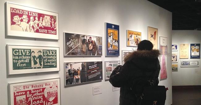 'Manspreading' illustrated: Exhibit studies subway etiquette
