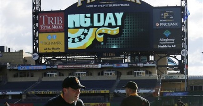 Opening day: Flurries early in Pittsburgh, flag up in KC