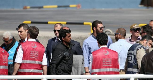 The Latest: Erdogan criticizes Europe for returning migrants