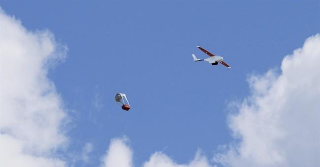 Drone company demos how blood air-drops will work in Rwanda