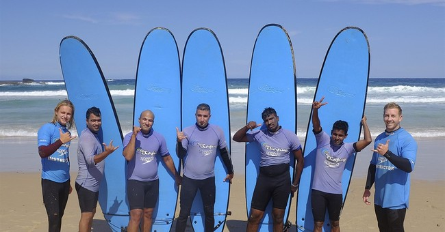 In Australia, surfing soothes asylum-seekers' fears of sea
