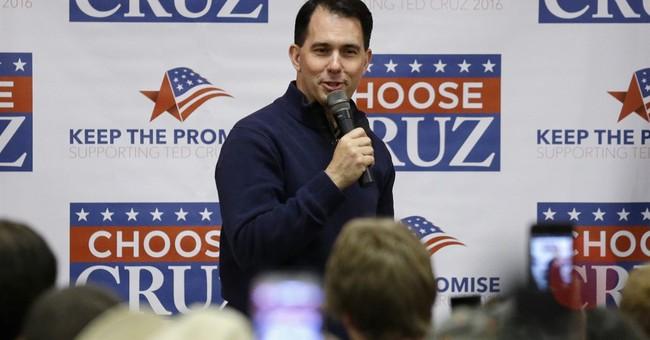 Wisconsin Gov. Scott Walker benefits from Cruz victory