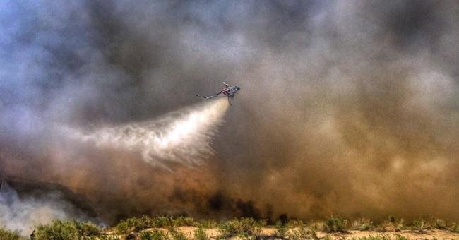 Fire on California-Arizona border leads RV parks to evacuate