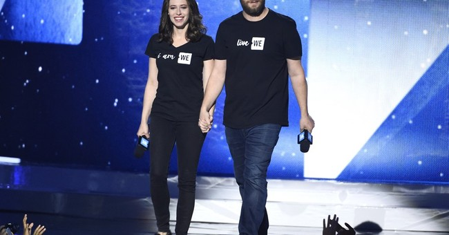 Theron, Rogen inspire schoolkids at first California WE Day