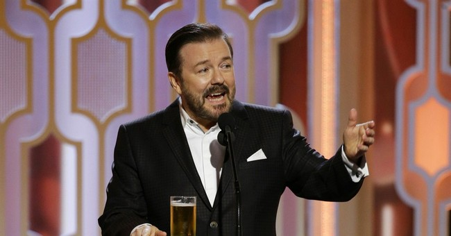 Liberal Reviews Are in for Ricky Gervais' Performance and Their Tears Are Delicious