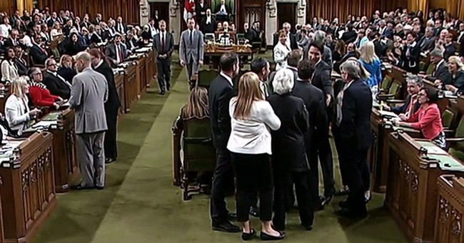 Canadian Prime Minister Apologizes for Manhandling MP