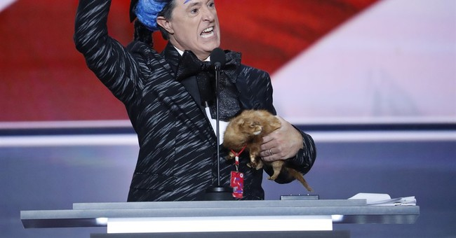 Stephen Colbert Dressed As A Hunger Games Character At The RNC; Criticized Trump