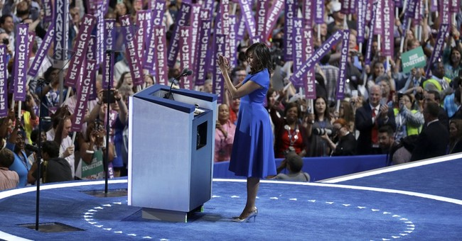 DNC Monday: FLOTUS Steals the Show, Then Rumpled Socialist Basks in Adulation